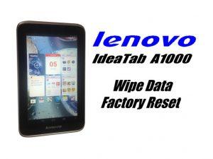 پاک کردن اطلاعات Lenovo Ideatab A1000 / تنظیم مجدد کارخانه (تنظیم مجدد هارد)
