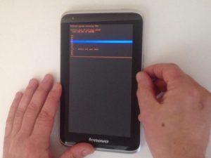 پاک کردن اطلاعات Lenovo Ideatab A1000 / تنظیم مجدد کارخانه