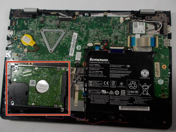 آموزش تعویض هارد دیسک Lenovo Flex 3-1120